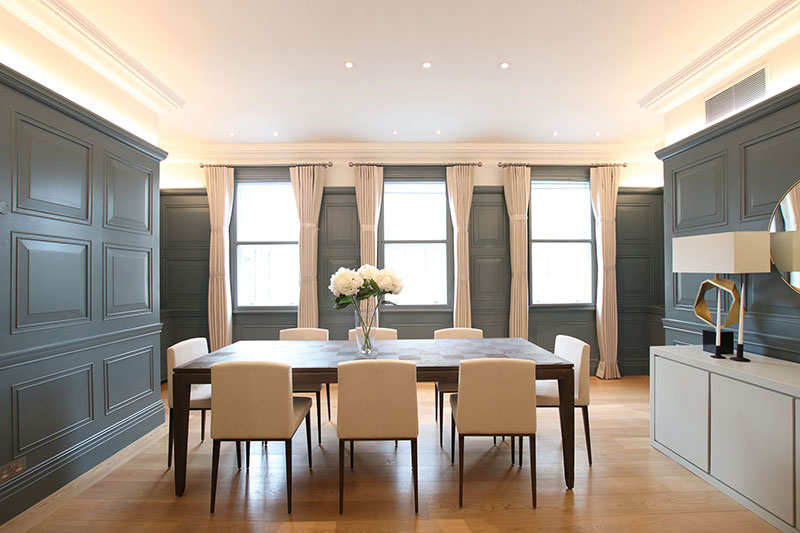 Full refurbishment of flat in Mayfair by PEBS a building company in London