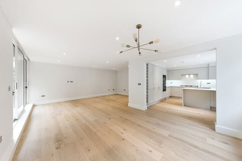 Inside a newly refurbished apartment by PEBS a building company in London